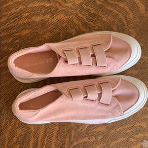 Size 8 women pink slip on shoes. Brand new